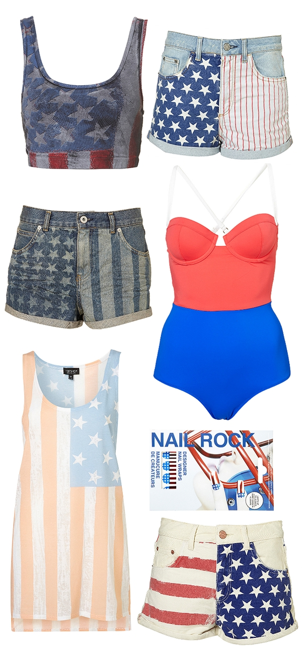 usa flag shorts, usa t-shirt, amerikanske shorts, usa shorts, flag shorts, nail wraps usa, wonder woman suit, top shop