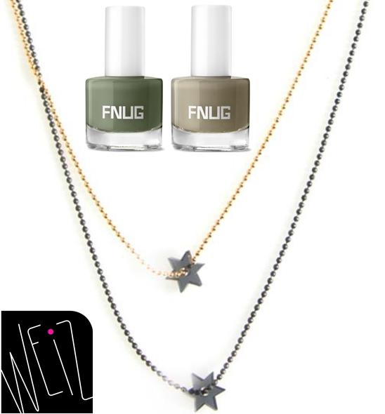 weiz stjerne halskæde, weiz star necklace, fnug neglelak, fnug nail polish
