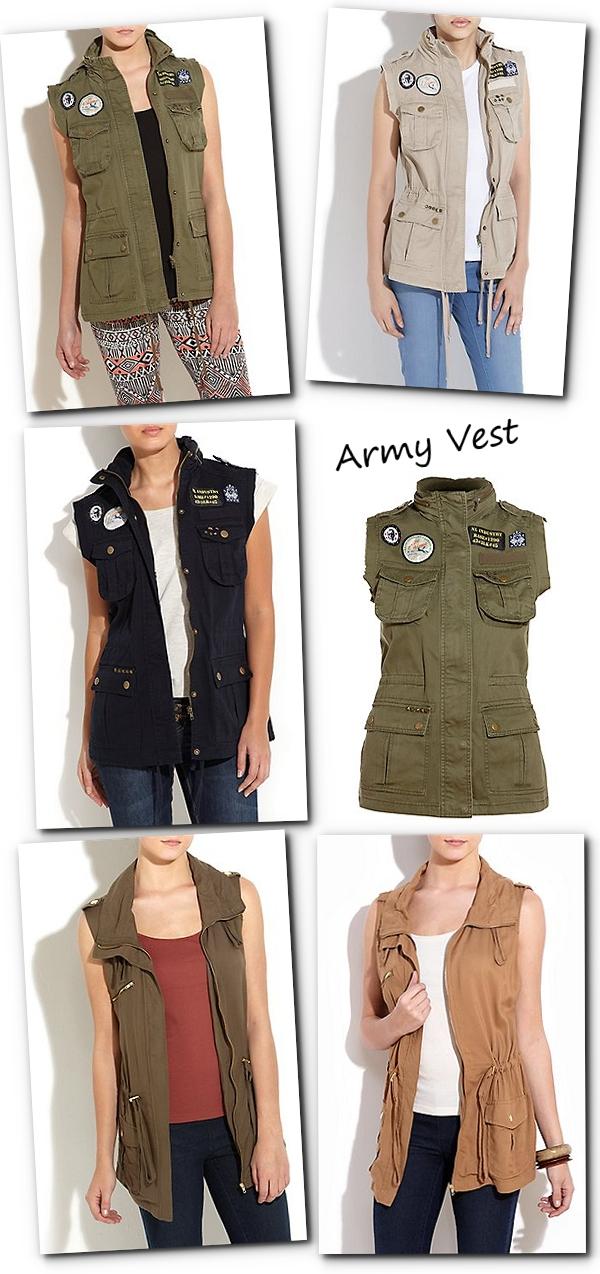 army grøn vest, militær vest, khaki vest, army gilet
