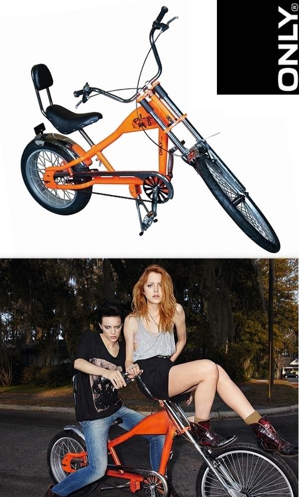 only kampagne, lowrider cykel orange, lowrider bike, vind en cykel, ONLY BECAUSE WE CAN,