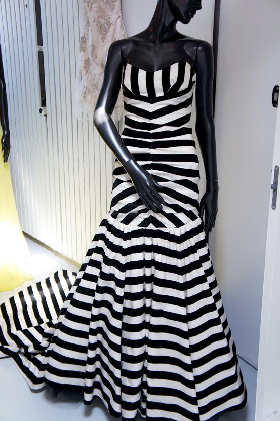 galakjole, stribet lang kjole