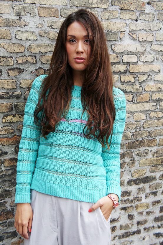 sommerpullover, esprit turkis strik, blue knit