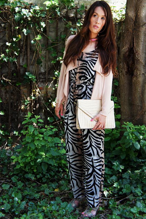 tiger print buksedragt H&M, tiger print jumpsuit