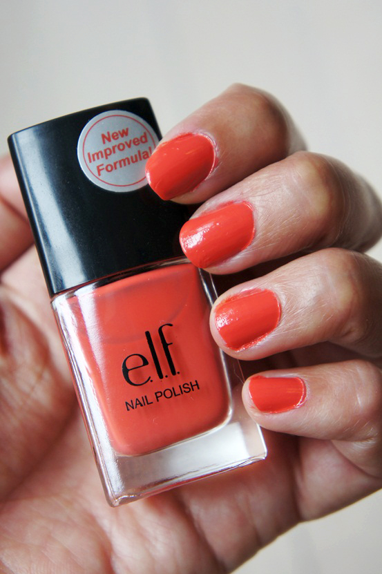 elf mango madness, koral neglelak, coral nail polish