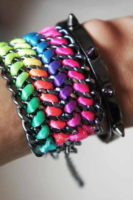 neon oxideret armbånd hm, spike armbånd forrest & bob, spike bracelet forrest and bob, neon bracelet