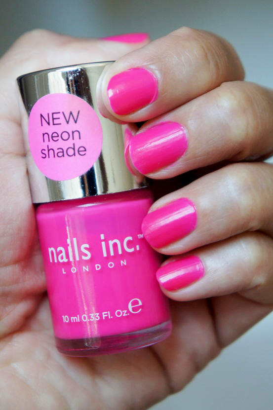 sephora danmark, nails inc neglelak, nails inc, neon pink nail polish, neon pink neglelak