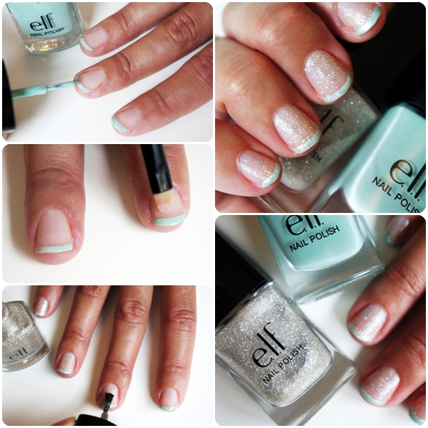 elf mint cream nail polish, diy nail guide