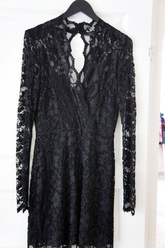 noir black lace dress aw12, noir blondekjole