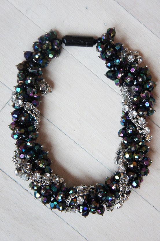 bling bling necklace h&m, stor halskæde H&M