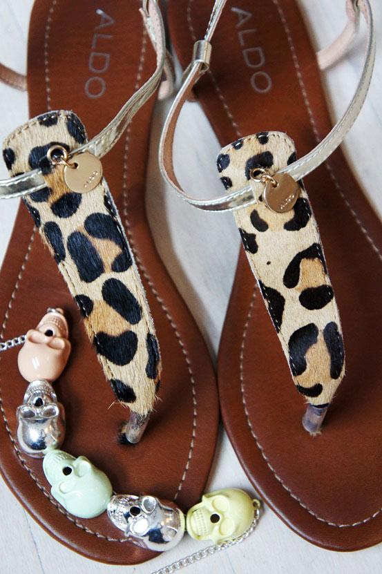leopard sandaler aldo, leopard sandals aldo, candy skull necklace gina tricot, dødningehoved halskæde gina tricot