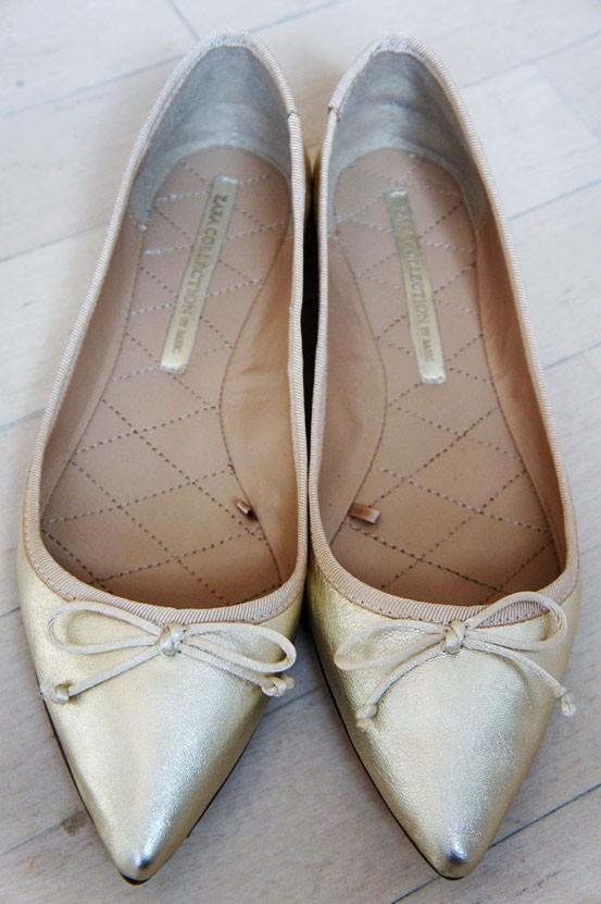 spidse ballerina sko, ballerinaer zara, flats zara