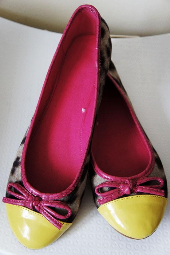 leopard ballerinaer, neon gul leopard sko, leopard flats, newyorker