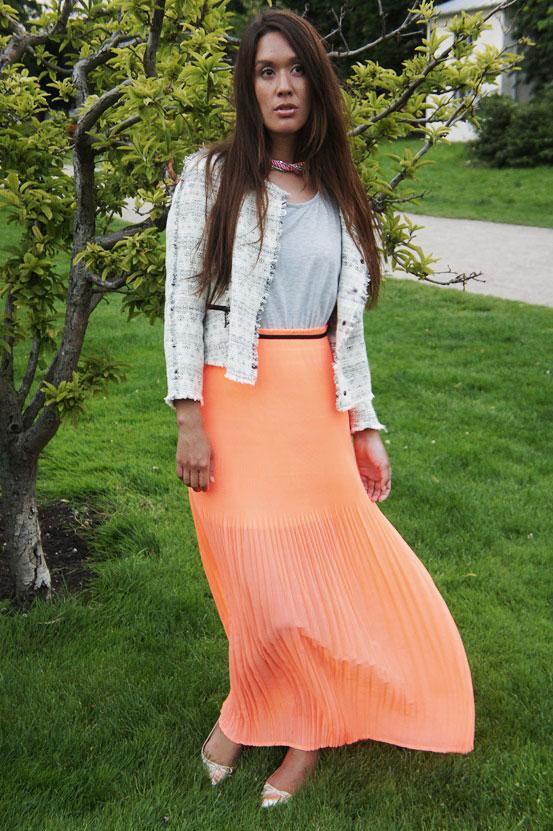 mango kjole, mango dress, koralfarvet kjole, mango to-delt kjole