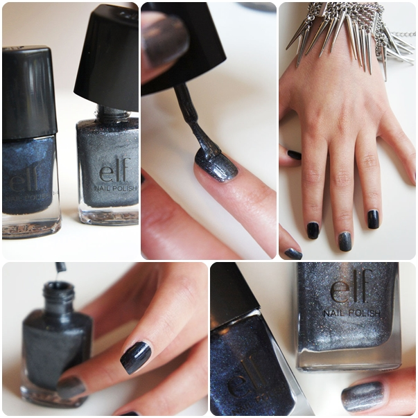 elf Nail Polish Dark Navy,  elf Nail Polish Metal Madness