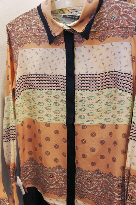 scarf shirt, tørklæde print skjorte