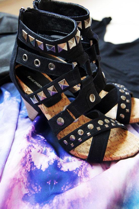 nitte sandaler deichmann, nitte sko, studded sandals
