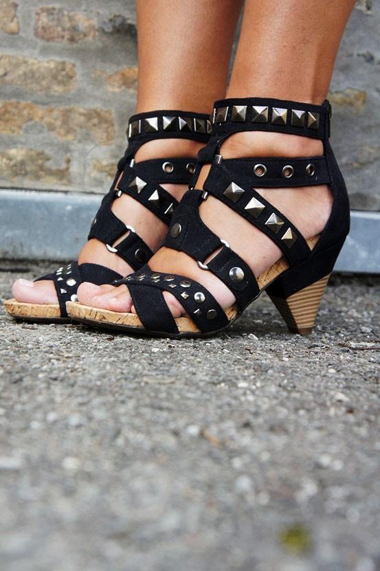 deichmann nitte sko, studded sandals deichmann, sko med nitter