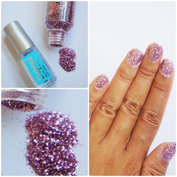 depend clear coat nail polish, glitter panduro, glimmer panduro
