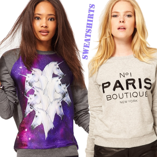 Mango Paris Boutique Sweat, sweatshirts, Sweatshirt with Galactic Horses, unicorn blouse, enhjørning bluse, paris sweatshirt