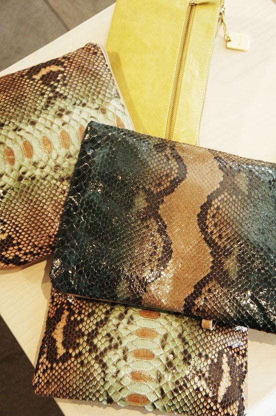 belsac clutch, python clutch, ægte slangeskind taske, python taske, ipad python skind