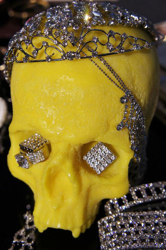 skull candel, dødningehoved lys, glitter smykker, glitter
