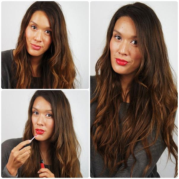røde læber, rød lipgloss, red lipgloss, isadora Moisturizing Lip Gloss
