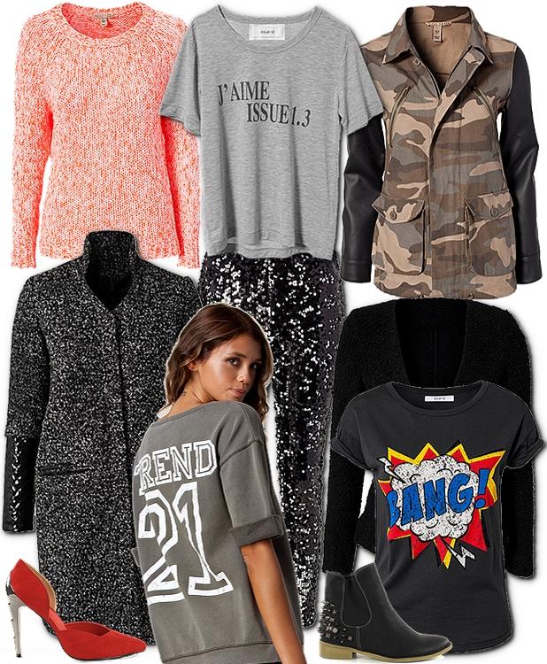 nelly sweatshirt, millitærjakke med læderærmer, armyjakke med læder ærmer, nelly camoflage jakke, Striktrøje fra NELLY TREND, ISSUE 1.3 OROMA JACKET, ISSUE 1.3 nelly, ISSUE 1.3 OLGA TROUSERS, ISSUE 1.3 pallietbukser, ISSUE 1.3 sequins pants, ISSUE 1.3 BANG T-SHIRT, comic t-shirt print, tegneserie print t-shirt, NELLY SHOES JAK, nelly sko rød, metal hæle sko, NELLY SHOES KATE STUD BOOT, biker støvler med nitter, T-shirt fra ISSUE 1.3, ISSUE 1.3 NATUKA JACKET,