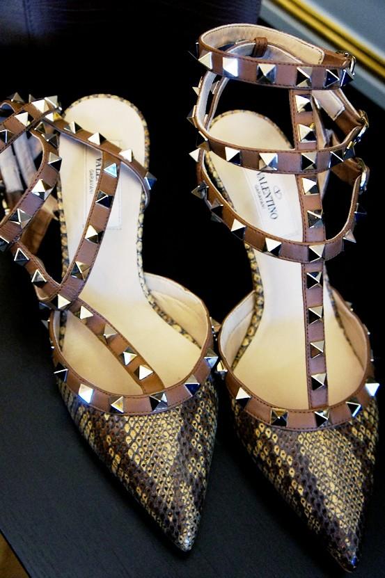 valentino sko, studded valentino shoes, nitte valentino sko