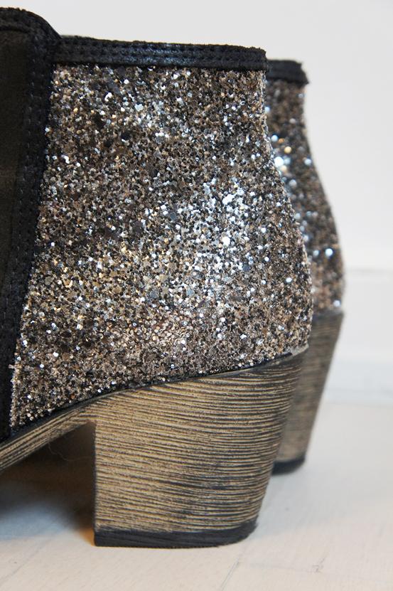 zing boots, zalando støvler, støvler med lav hæl, læder støvler, leather boots, vinter støvler, støvler med glimmer, boots with glitter