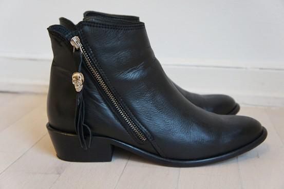 Zign Støvler, skull boots, dødningehoved dekoration støvler, zalando støvler, zalando boots
