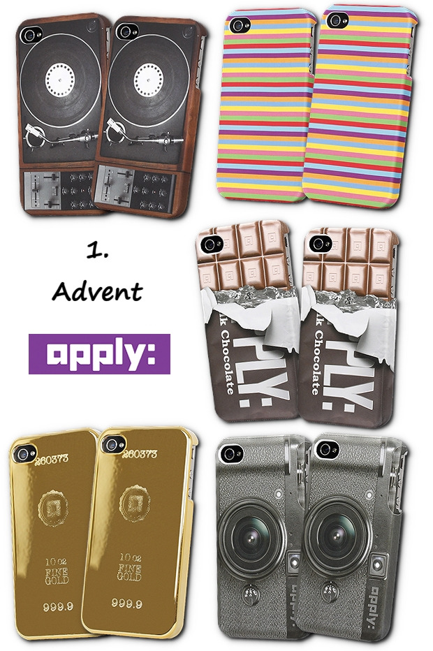 1 advent konkurrence, apply, iphone cover, sjove iphone covers, iphone 4 cover, iphone 4s cover, apply iphone cover, chokolade iphone cover, stribet iphone cover, camera iphone cover, pladespiller iphone cover, guldbar iphone cover