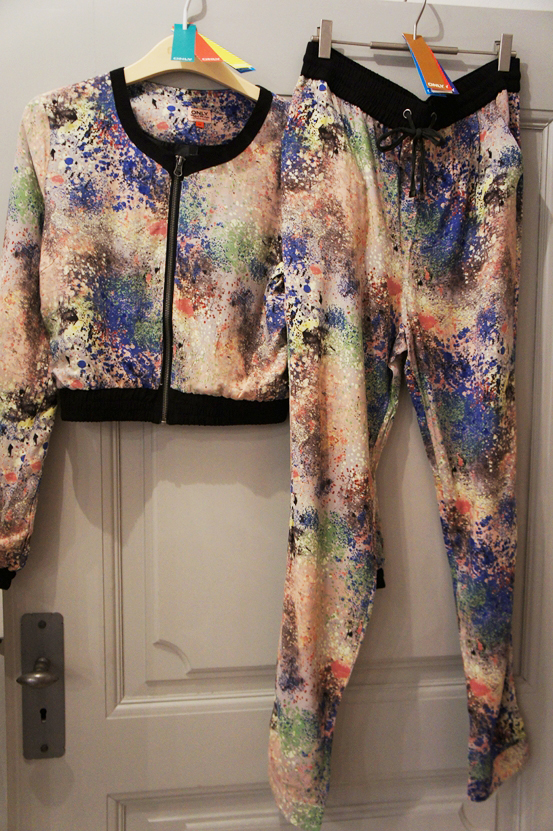 only ss13, only tøj kollektion, only pressedag, paint splatter suit, only suit