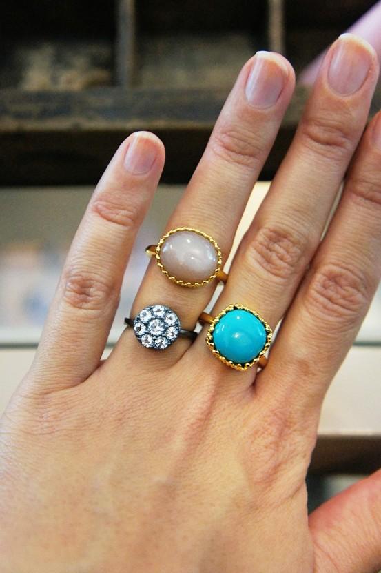 carre ring, carre smykker, carre fingerring, blå sten guld ring