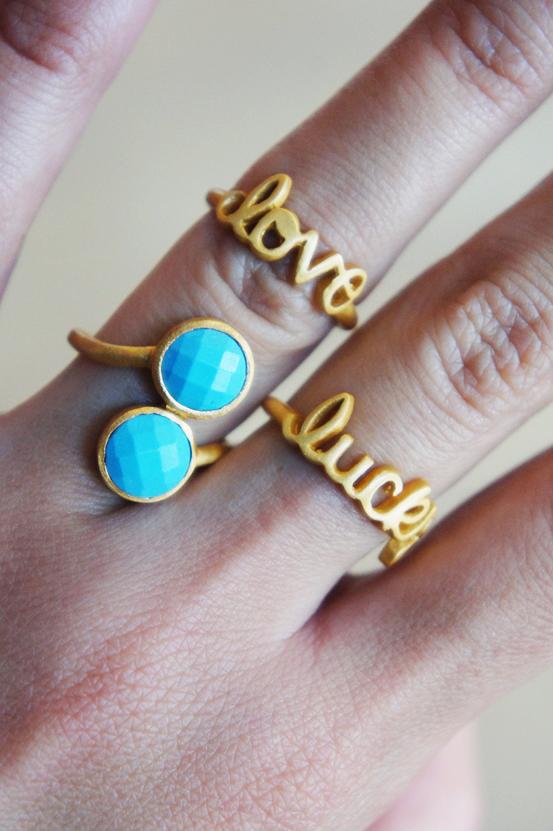 love ring, luck ring, jewlscph ss13, jewlscph smykker, jewlscph ringe, turkise sten guld ring