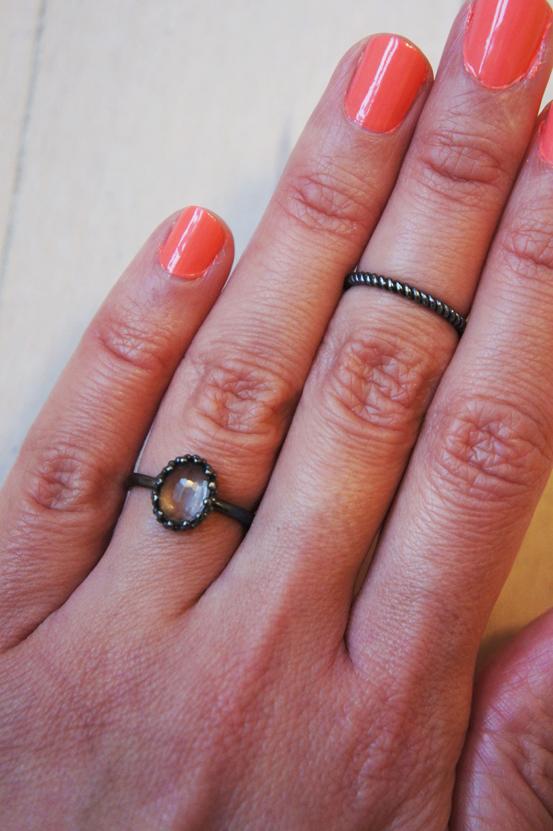 Carré Jewellery, Carré Jewellery ring, Carré Jewellery oxideret sterlingsølv ring, oxidized sterling silver ring