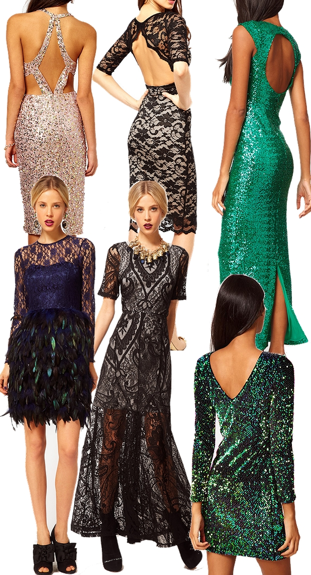 nytårskjoler 2012 2013,  Motel Gabby Iridescent Sequin Dress, grøn pallietkjole, ASOS Midi Dress With Holographic Pastel Sequins, ASOS Maxi Dress in Sequin,  Maxi Dress With Lace Overlay,  Elise Ryan Open Back Midi Dress in Lace, Feather Dress With Lace Top, kjole med fjer, maxikjole med pallietter, blonde maxikjole