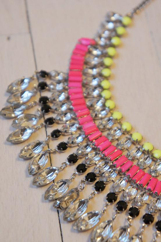 gina tricot smykker, gina tricot neon halskæde, neon necklace