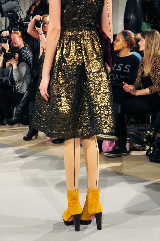guld brokade nederdel edith & ella aw13, brocade skirt