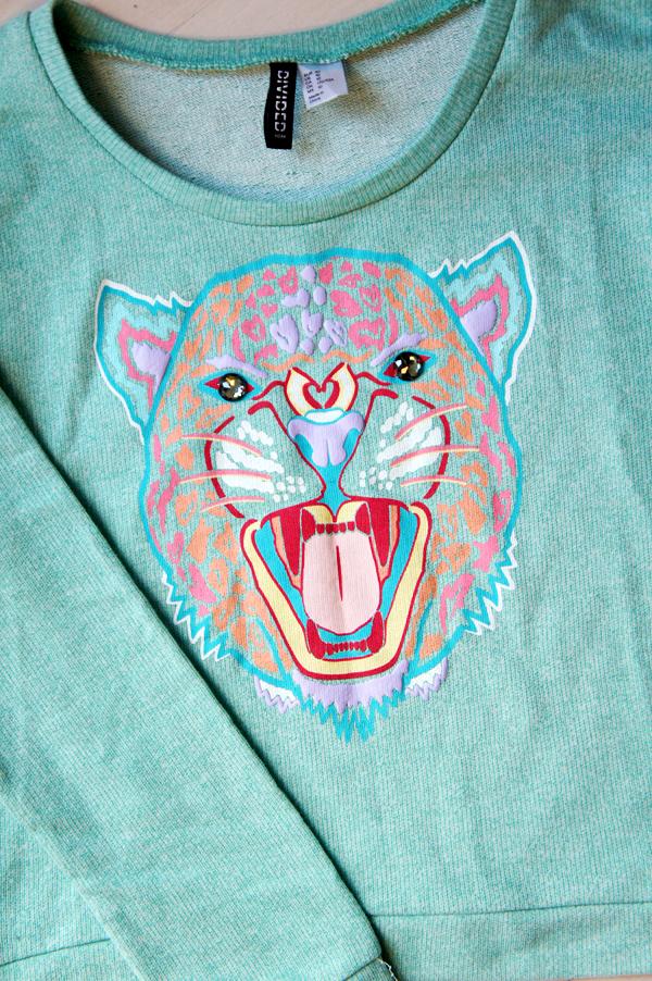kenzo tiger, kenzo tiger sweatshirt, kenzo lookalike blouse, tiger print sweatshirt, kenzo wannabe tiger sweatshirt