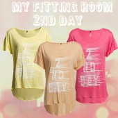 2nd Day Brand gul t-shirt, 2nd Day Brand t-shirt - camellia rose, 2nd Day Brand peach t-shirt, my fitting room, webshop my fitting room, 2nd t-shirt