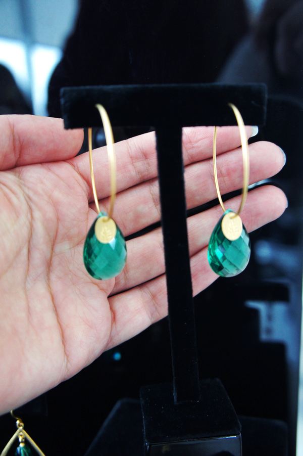 julie sandlau øreringe, julie sandlau earrings, julie sandlau aw13, green stones julie sandlau