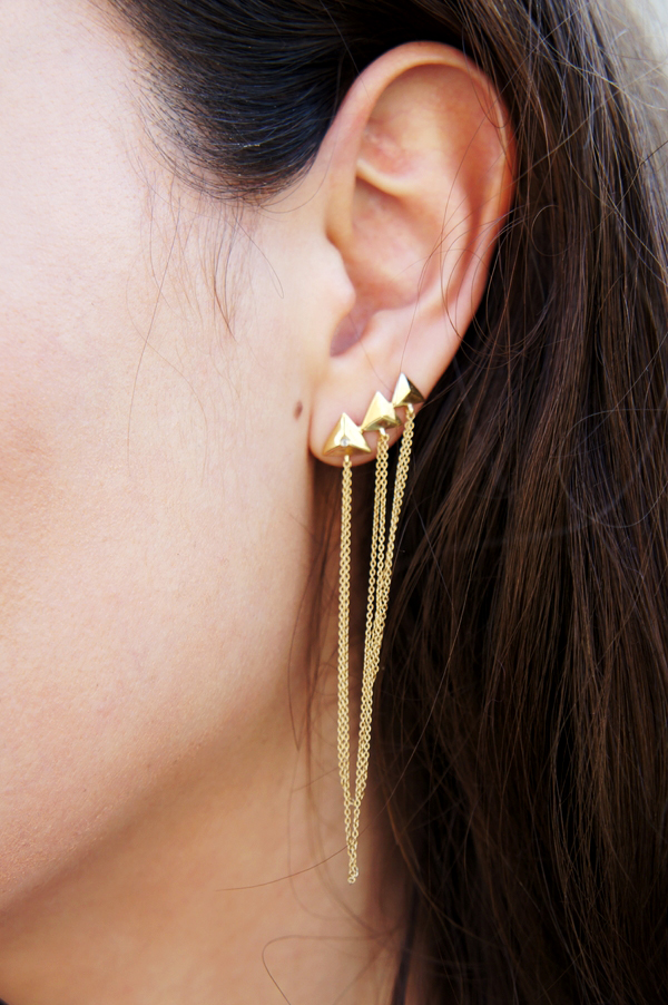 zöl smykker, zol earrings gold