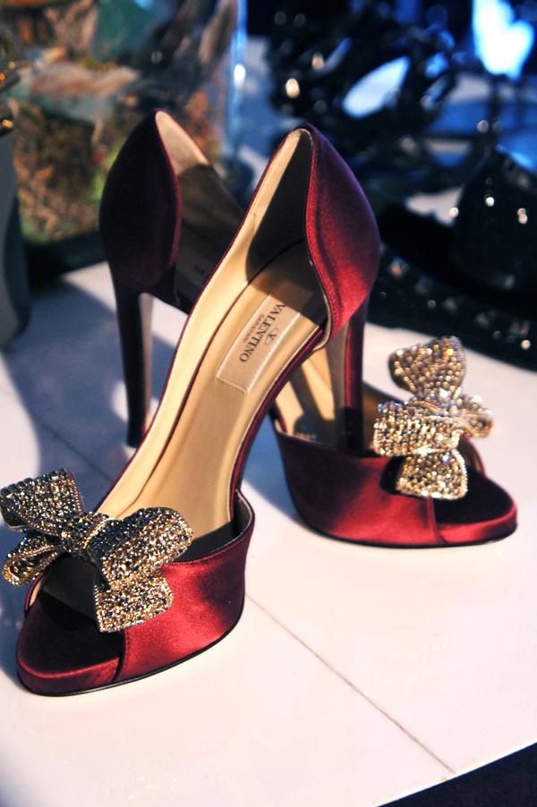 valentino pumps, valentino sko, satin sko