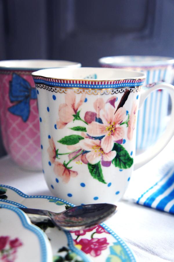 kaffekop lisbeth dahl, blomster kop