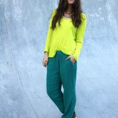 oftd, blogger outfit, neon colours, green pants H&M, neon yellow blouse H&M, neon gul bluse H&M, jade grønne bukser H&M