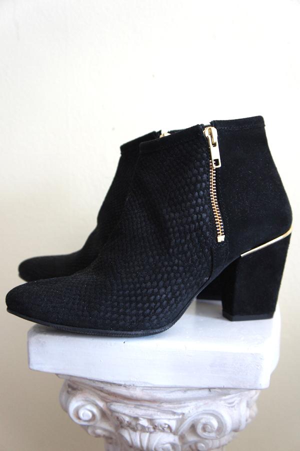 black ankle boots, suede boots, bianco sko udsalg, bianco sale