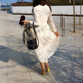 h&m blondekjole consious collection, white lace dress hm consious eksklusive