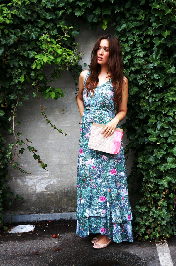 hm consious collection jungle maxi dress, H&M consious maxikjole