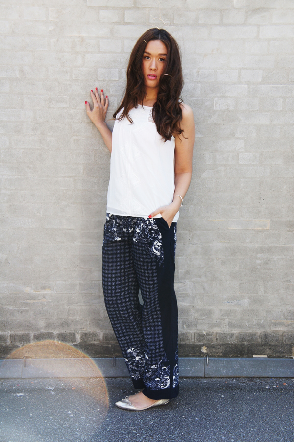 H&M bukser, paisley hm bukser, paisley  pants H&M