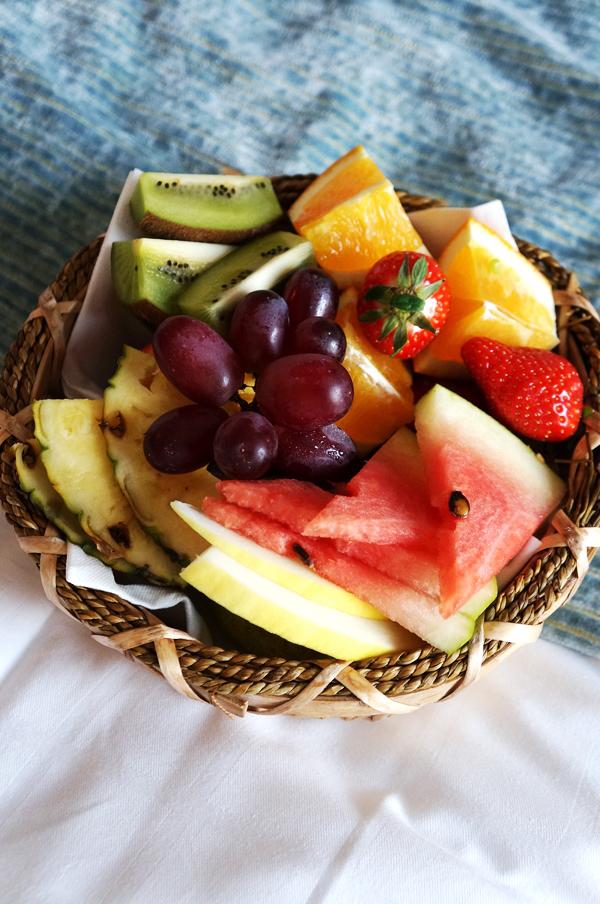 frugtkurv, hotel frugt, fruit basket